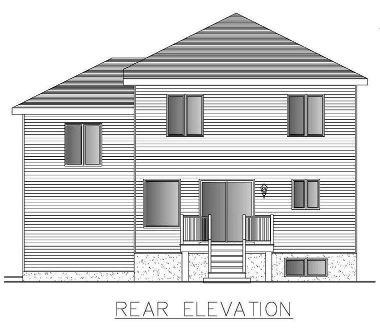 Contemporary House Plan 50306 Rear Elevation