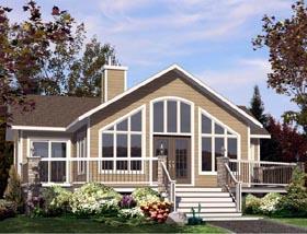 House Plan 50309 Elevation