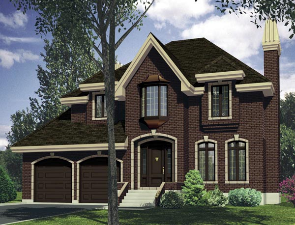 European House Plan 50310 Elevation
