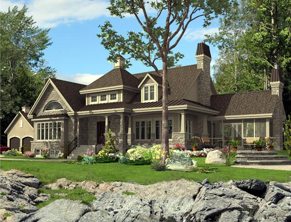 Colonial House Plan 50313 Elevation