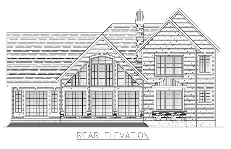 Colonial House Plan 50314 Rear Elevation