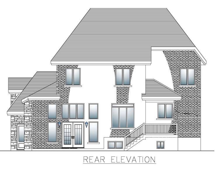 House Plan 50317 Rear Elevation