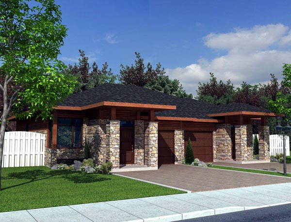 Multi family plan 50321 at for Modern multi family house plans