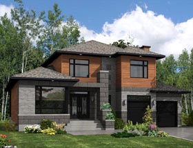Contemporary House Plan 50322 Elevation
