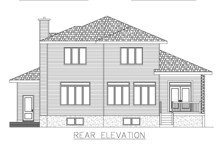 Contemporary House Plan 50322 Rear Elevation