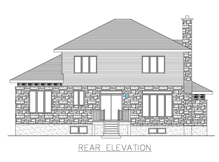 Contemporary Modern House Plan 50323 Rear Elevation