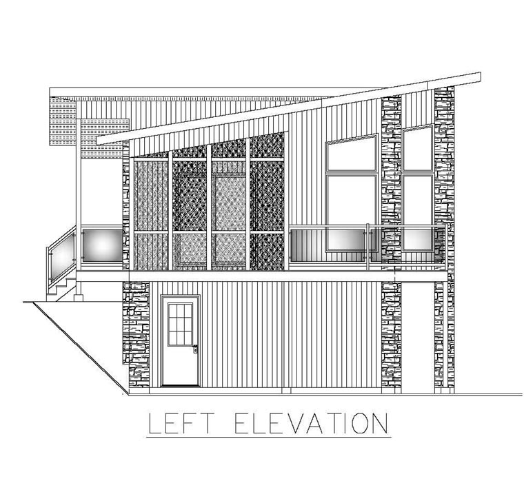 Contemporary, Modern House Plan 50324 with 3 Beds, 2 Baths, 2 Car Garage Picture 1