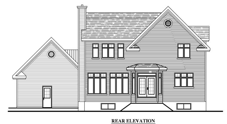 Country Traditional House Plan 50325 Rear Elevation