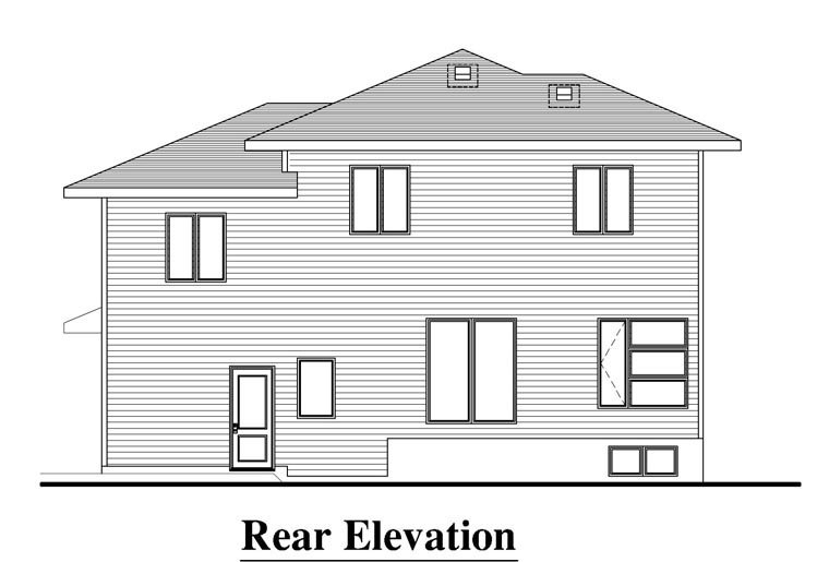 Contemporary House Plan 50329 Rear Elevation
