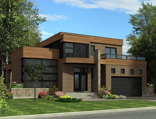 Contemporary House Plan 50330 Elevation