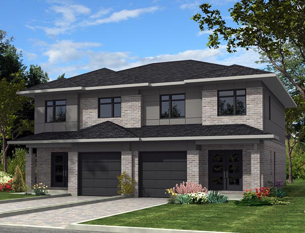 Multi family plan 50337 at for Modern multi family house plans
