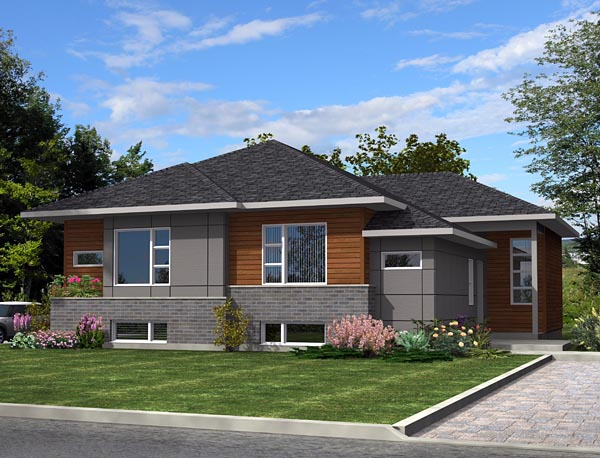 Contemporary Multi-Family Plan 50338 with 6 Beds, 4 Baths Elevation