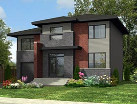 Contemporary House Plan 50341 Elevation
