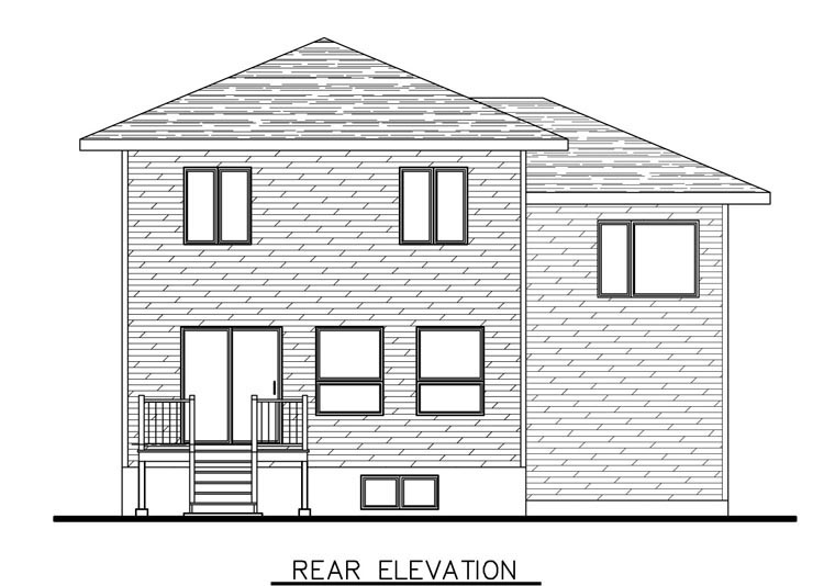 Contemporary House Plan 50341 Rear Elevation