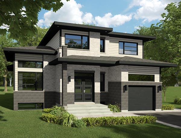 Contemporary House Plan 50342 Elevation