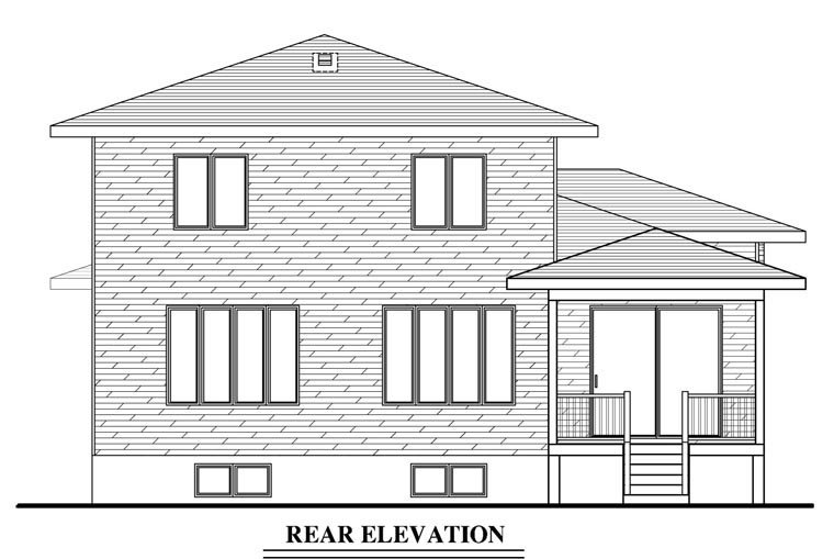 Contemporary House Plan 50342 Rear Elevation