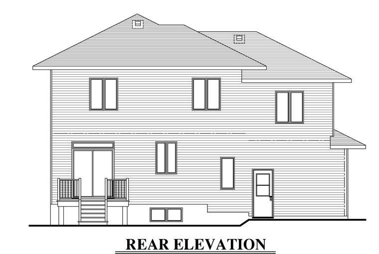 Contemporary House Plan 50343 Rear Elevation