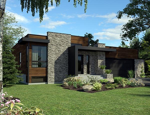 Contemporary House Plan 50345 Elevation