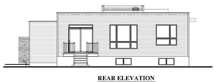 Contemporary House Plan 50345 Rear Elevation