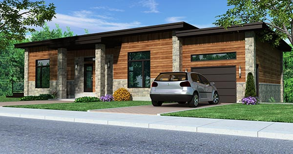Contemporary House Plan 50346 Elevation
