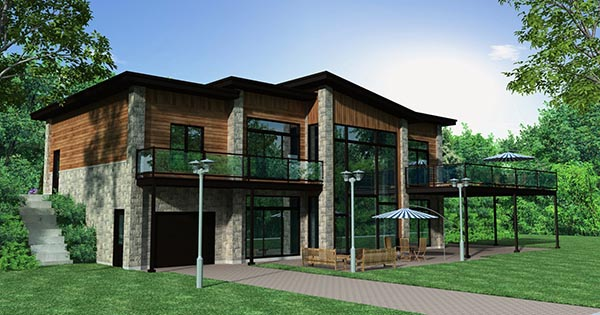 Contemporary House Plan 50346 Rear Elevation