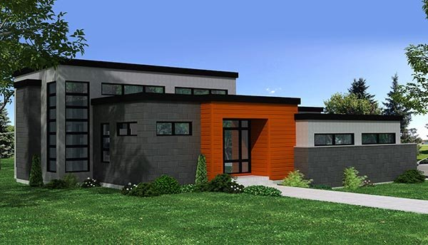 Contemporary House Plan 50347 Elevation