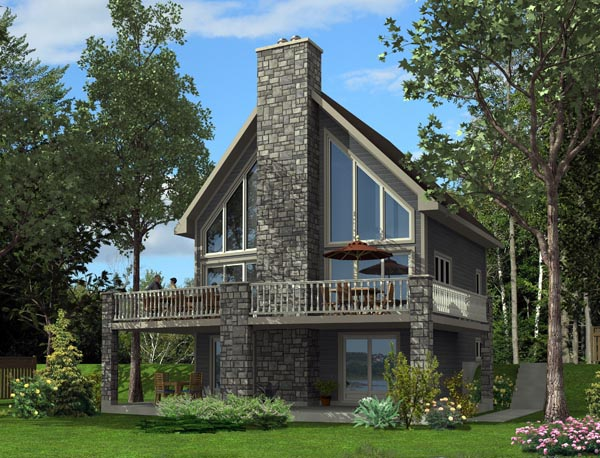 House Plan 50349 with 3 Beds, 3 Baths Elevation