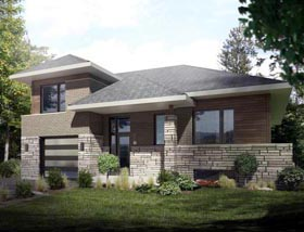 Contemporary House Plan 50350 Elevation