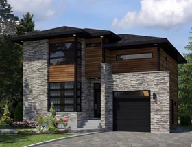 Contemporary House Plan 50352 Elevation