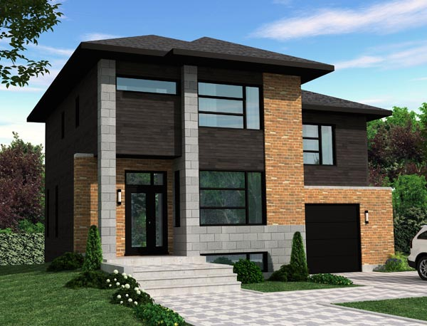 Contemporary House Plan 50356 Elevation