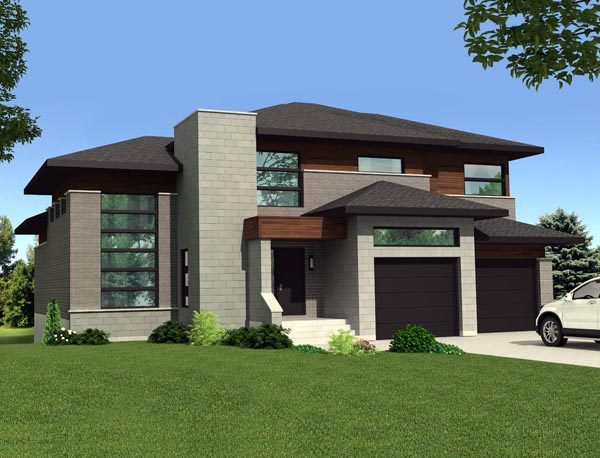 Contemporary House Plan 50359 Elevation