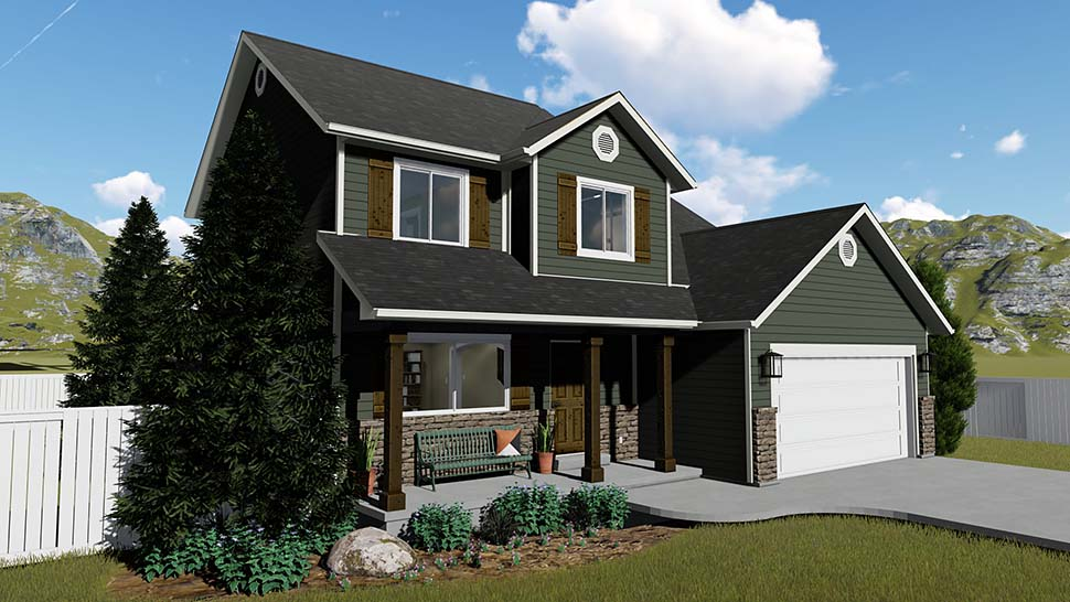House Plan 50401 with 6 Beds, 4 Baths, 2 Car Garage Picture 1