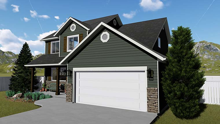 House Plan 50401 with 6 Beds, 4 Baths, 2 Car Garage Picture 2