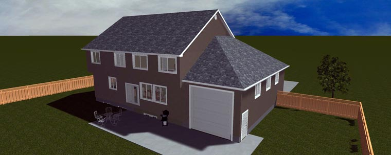 House Plan 50422 with 6 Beds, 5 Baths, 4 Car Garage Picture 3
