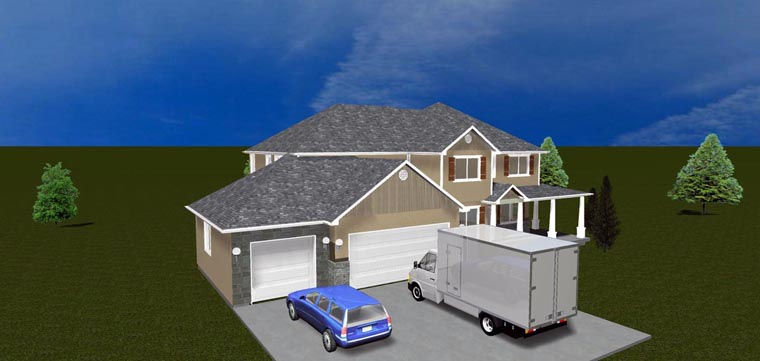 House Plan 50423 with 7 Beds, 4 Baths, 3 Car Garage