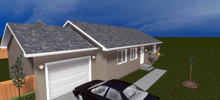 House Plan 50439 with 2 Beds, 1 Baths, 1 Car Garage Picture 4