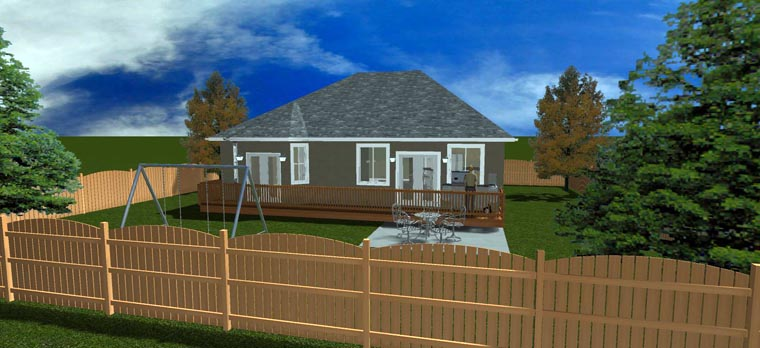 House Plan 50440 with 5 Beds, 3 Baths, 2 Car Garage Picture 11