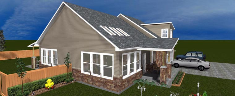 House Plan 50441 with 3 Beds, 3 Baths, 3 Car Garage Picture 10