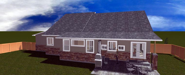 House Plan 50441 with 3 Beds, 3 Baths, 3 Car Garage Picture 4