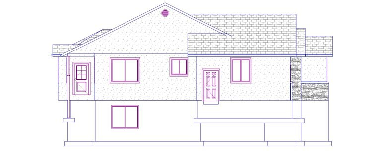House Plan 50445 with 5 Beds, 4 Baths, 3 Car Garage Picture 1