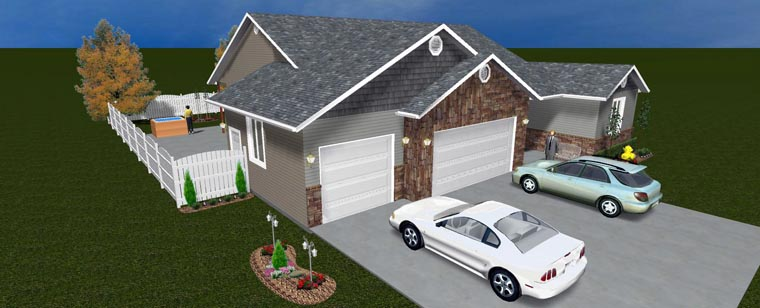 House Plan 50445 with 5 Beds, 4 Baths, 3 Car Garage Picture 12