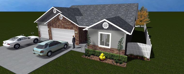 House Plan 50445 with 5 Beds, 4 Baths, 3 Car Garage Picture 4
