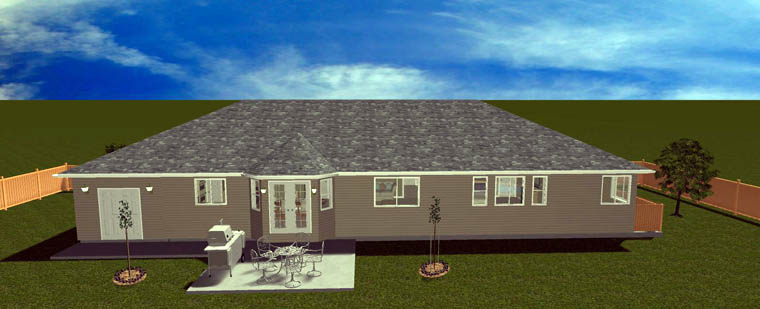 House Plan 50464 with 5 Beds, 4 Baths, 2 Car Garage Picture 4