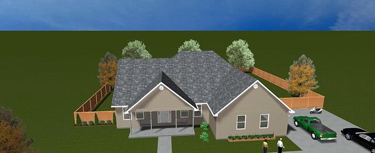 House Plan 50490 with 5 Beds, 4 Baths, 2 Car Garage Elevation