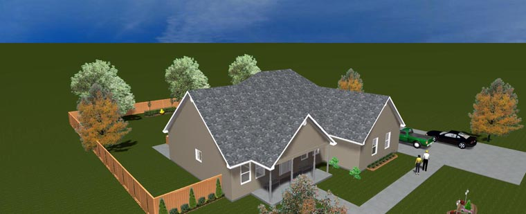 House Plan 50490 with 5 Beds, 4 Baths, 2 Car Garage Picture 15