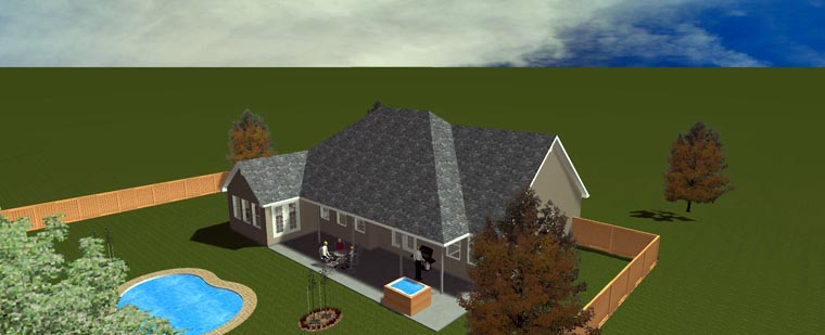 House Plan 50490 with 5 Beds, 4 Baths, 2 Car Garage Picture 17