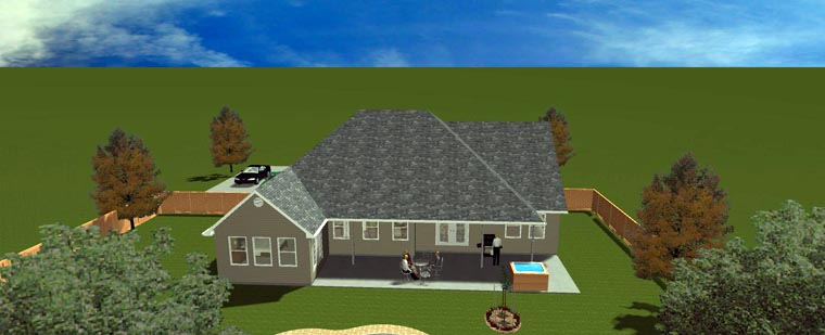 House Plan 50490 with 5 Beds, 4 Baths, 2 Car Garage Picture 23
