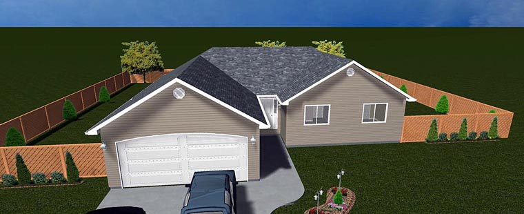 House Plan 50495 with 6 Beds, 3 Baths, 2 Car Garage Elevation
