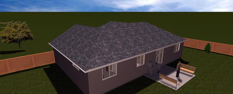 House Plan 50495 with 6 Beds, 3 Baths, 2 Car Garage Picture 21