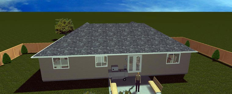 House Plan 50495 with 6 Beds, 3 Baths, 2 Car Garage Picture 7